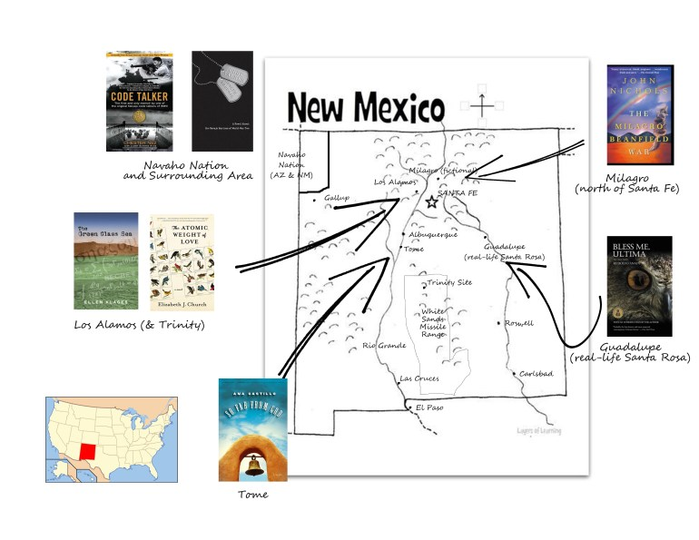 New Mexico Book Map