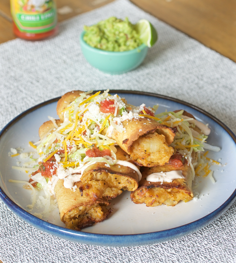 potato rolled tacos 4