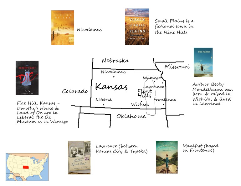 Kansas book map