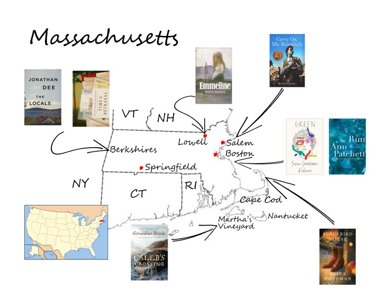 Massachusetts book map