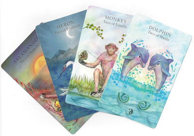 animal wisdon tarot two cards