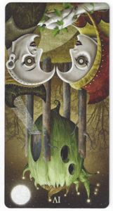 deviant moon tarot four wands reversed
