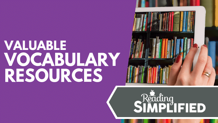 Valuable Vocabulary Resources