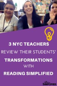 3 NYC Teachers review Reading Simplified