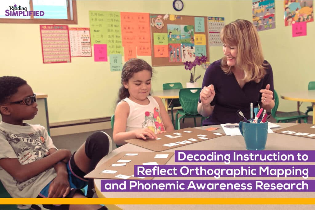 Orthographic Mapping and Phonemic Awareness Research