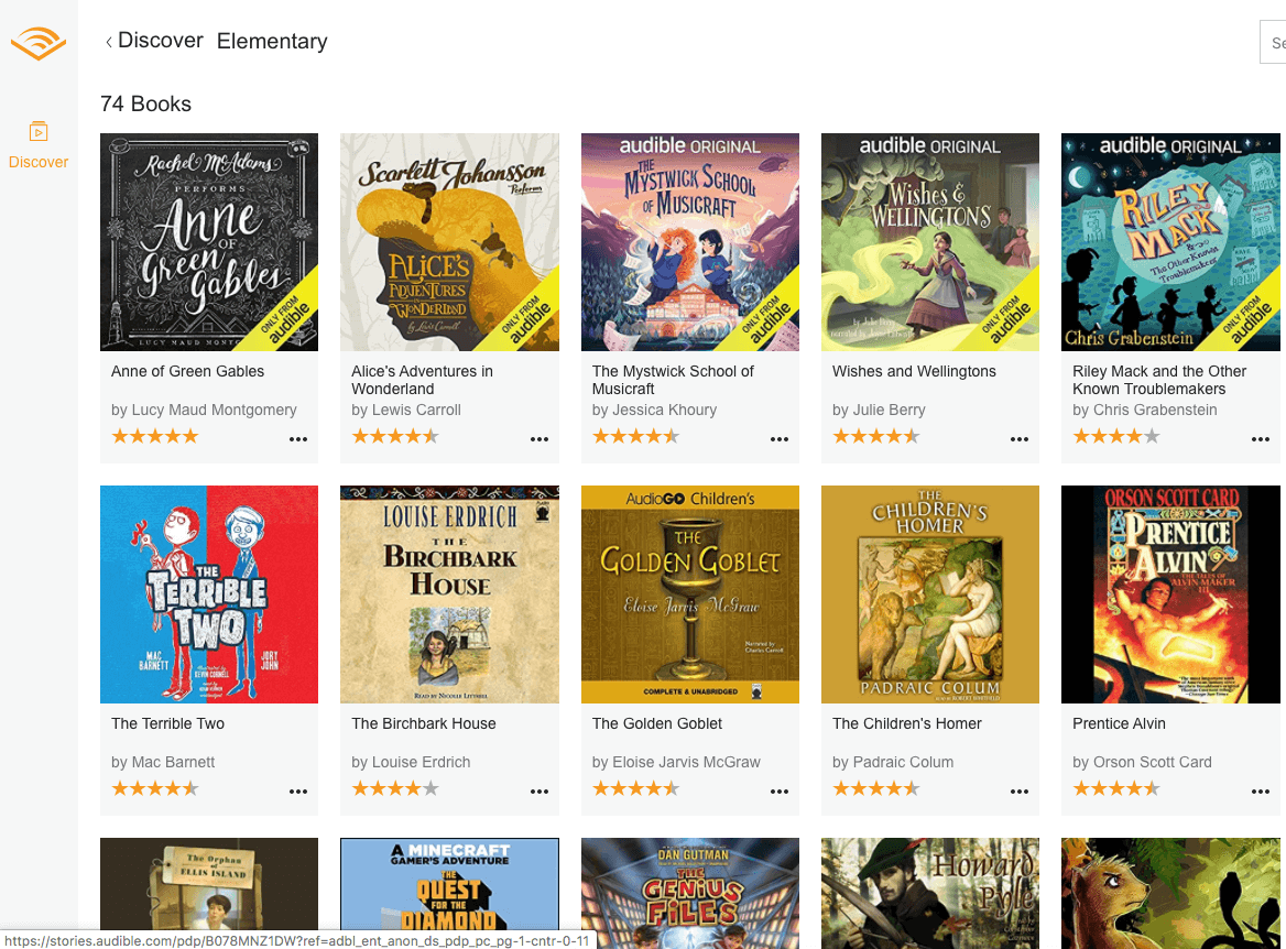 Children's Stories at Audible for free