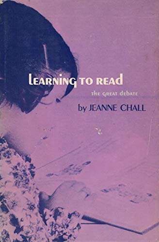 Learning to Read book cover by Jeanne Chall