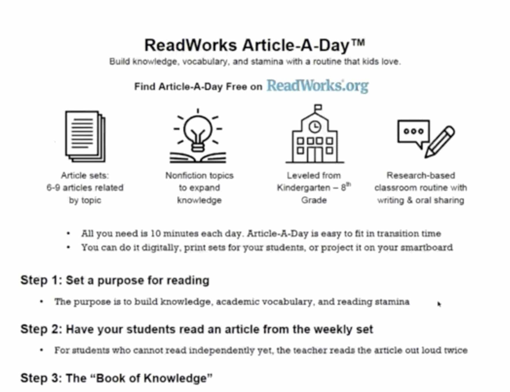 ReadWorks Article-A-Day