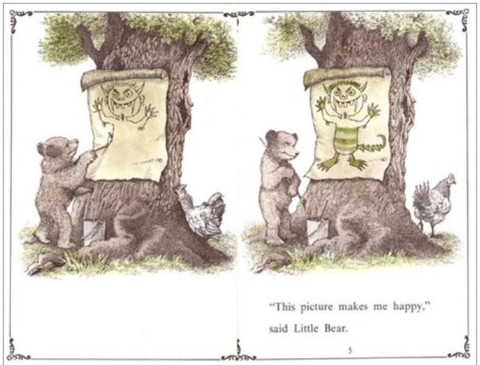 Pages from 'A Kiss For Little Bear,' by Else Holmelund Minarik