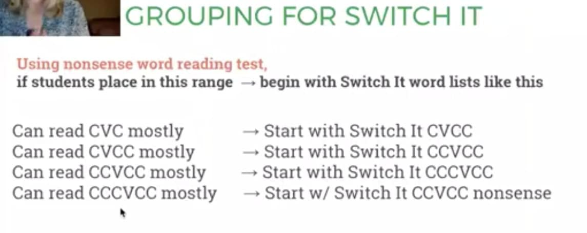 Grouping for Switch It