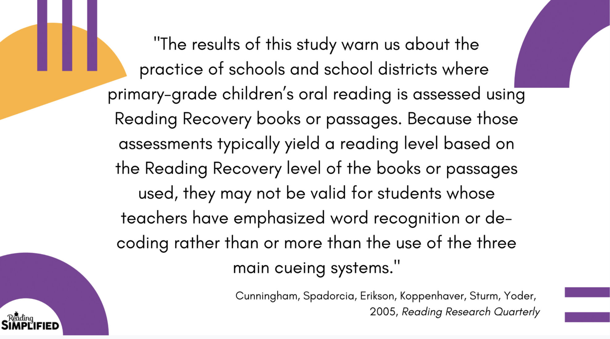 Reading Research Quarterly by Dr. Jim Cunningham