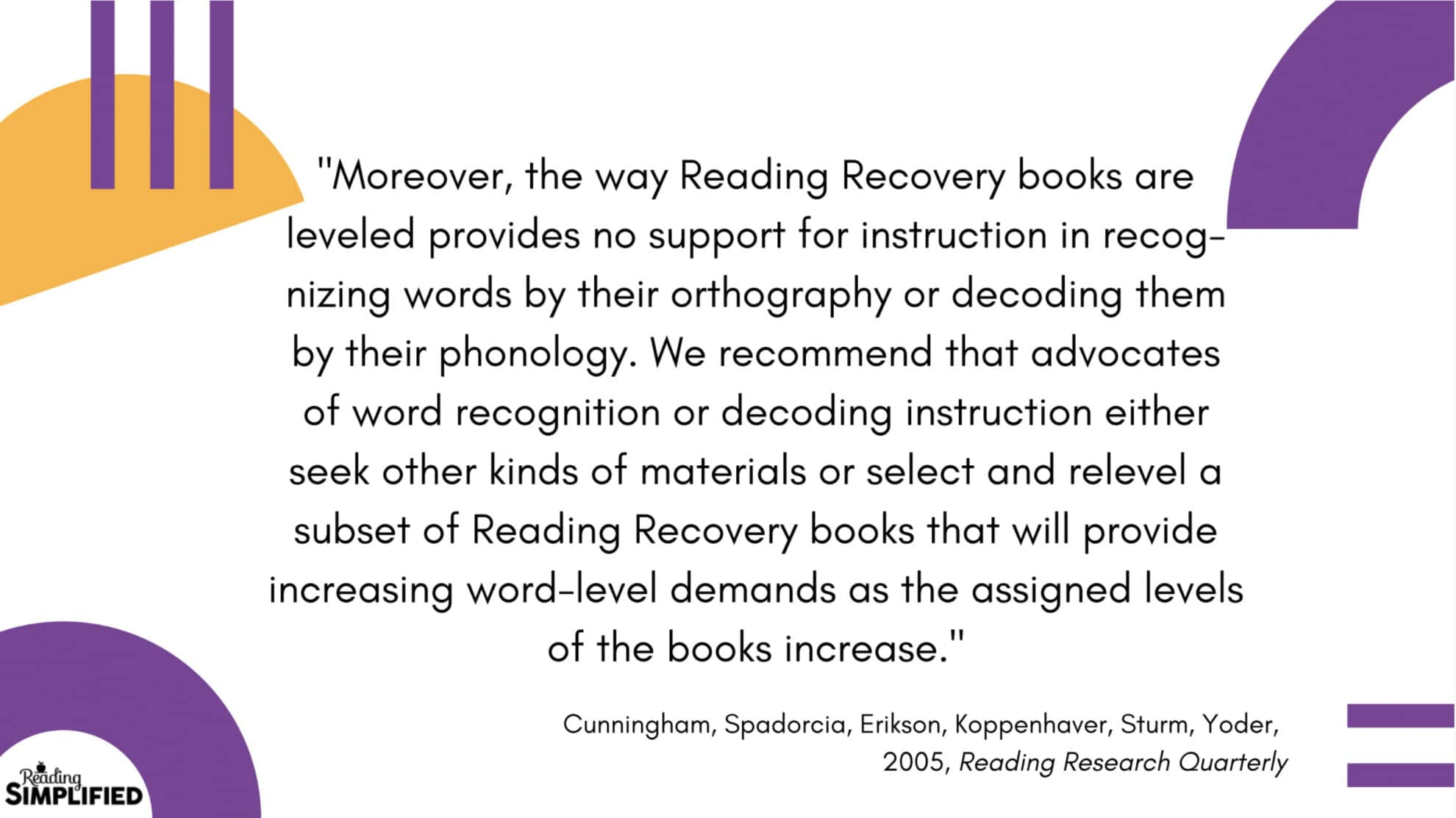 Reading Recovery - Reading Levels Assessments Don't Direct Instruction