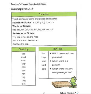 Whole Phonics Teachers' Manual Sample image
