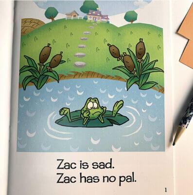 Whole Phonics Zac is sad book image