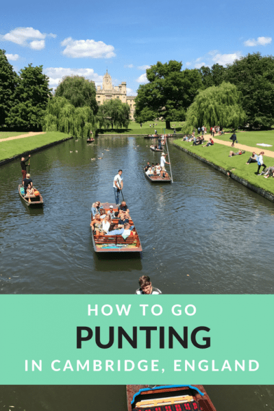 How to go punting in Cambridge, England - and look good doing it!