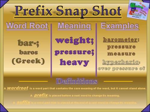 bar- Prefix Snap Shot