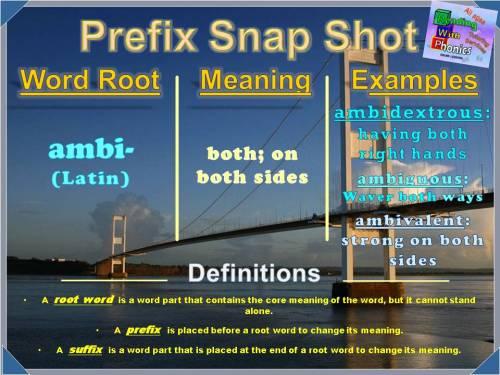 ambi- Prefix Snap Shot