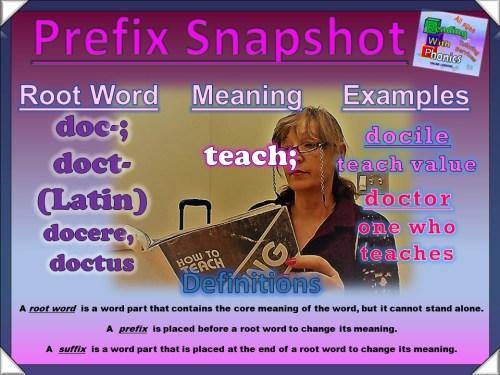 doc-- doct- Prefix Snapshot