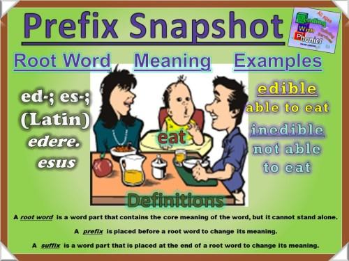 ed-- es- Prefix Snapshot