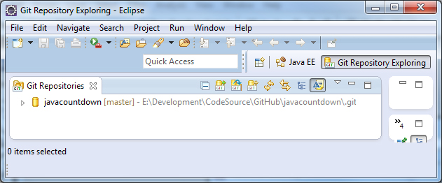 Java EE Project From Remote GitHub Repository