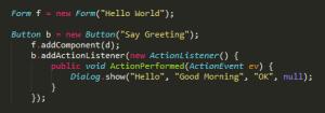condename one code example
