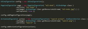 tabris code example ui 2