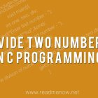 divide two numbers in c