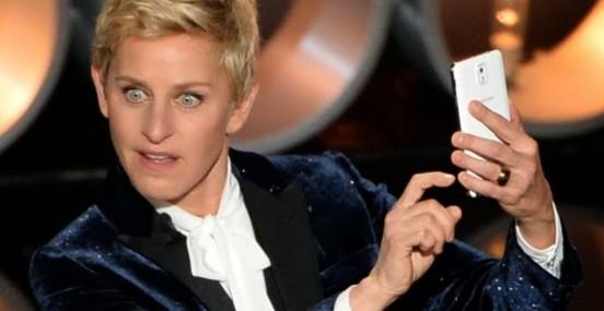 Ellen at Oscars 2014