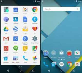 Lollipop style Homescreen and app drawer