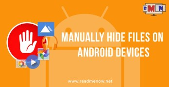 Manually hide files on Android devices