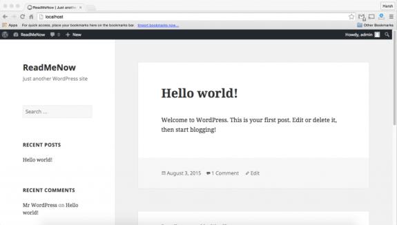 wordpress tutorial - install coming soon page