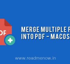Merge Multiple Files into PDF – macOS