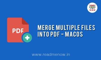merge multiple files into pdf macos