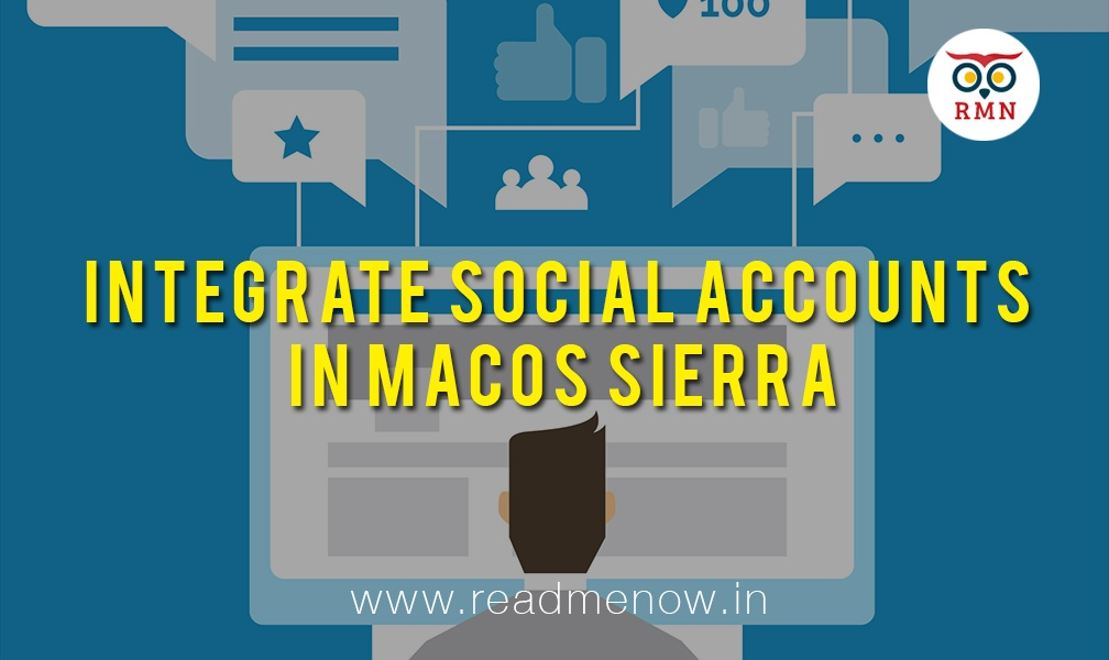 Integrate Social Accounts in macOS Sierra