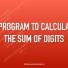 calculate sum of digits in C Programming