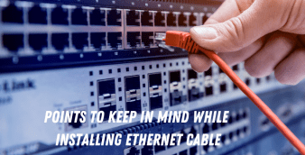Installing Ethernet cable