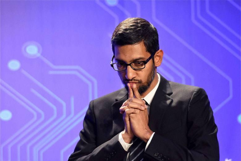 San Jose: Google CEO, Sundar Pichai during the Digital India and Digital Technology dinner function in San Jose on Saturday. PTI Photo by Subhav Shukla (PTI9_27_2015_000101A)