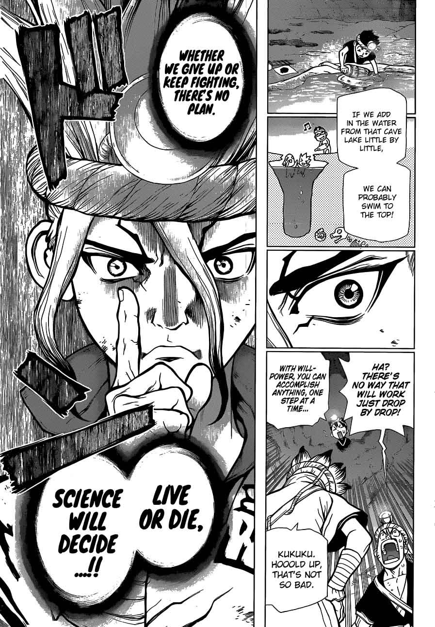 Dr. Stone : Chapter 55 - Treasure Dungeon, Push Start! image 013