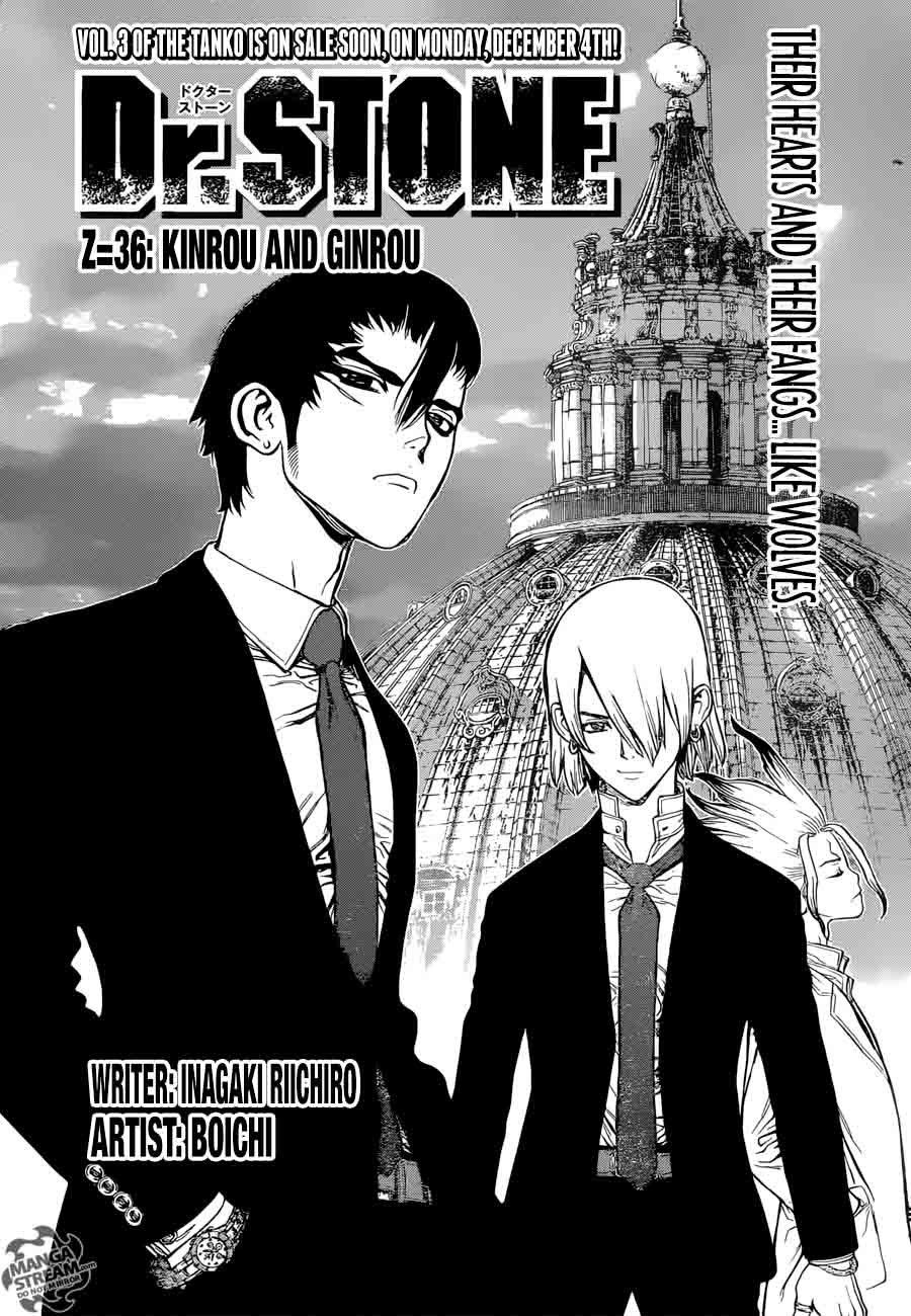 Dr. Stone : Chapter 36 - Kinrou and Ginrou image 005