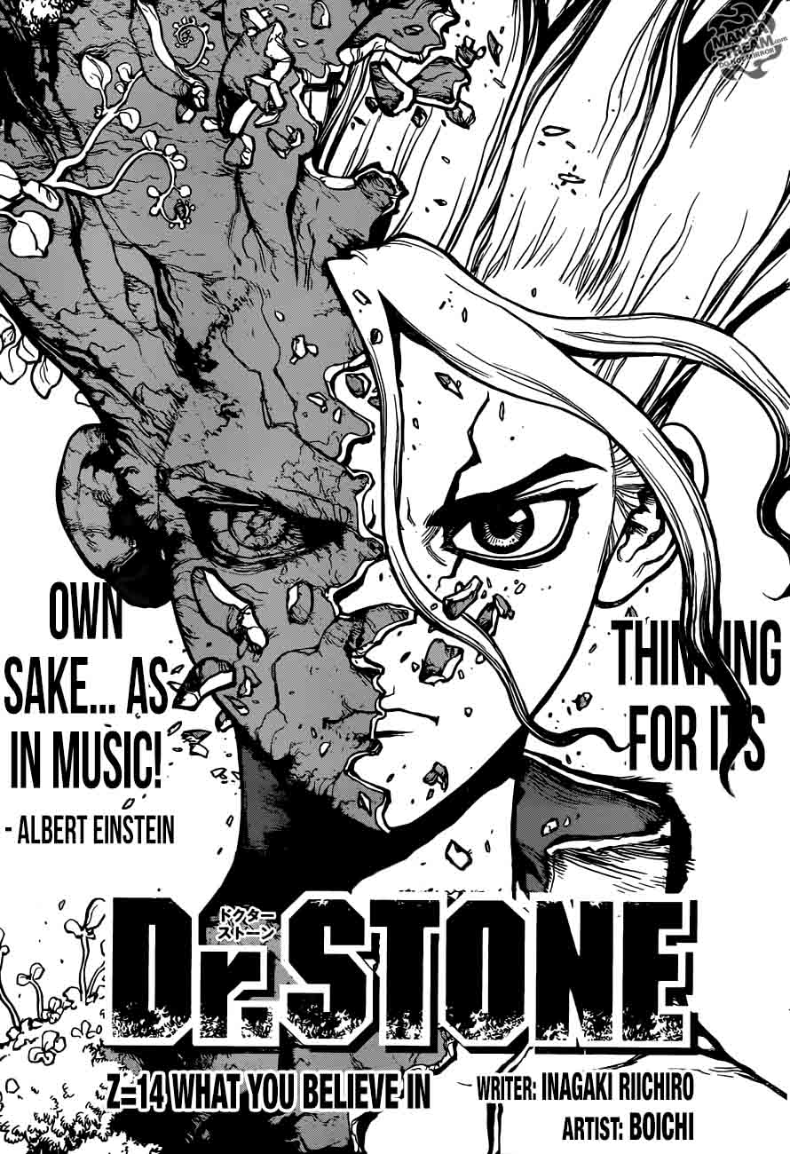 Dr. Stone : Chapter 14 - What you believe in image 001