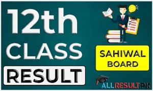 2nd Year Result Sahiwal Board