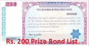 Rs. 200 Prize Bond List, Draw#83, Held in Peshawar, On 15-09-2020