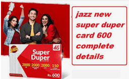 Jazz Super Card Monthly Rs. 600 Detail