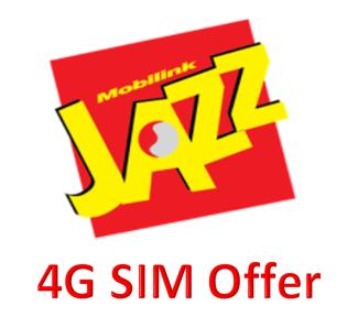Jazz 4G Sim Offer