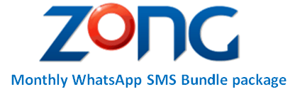 Zong Monthly WhatsApp & SMS Bundle
