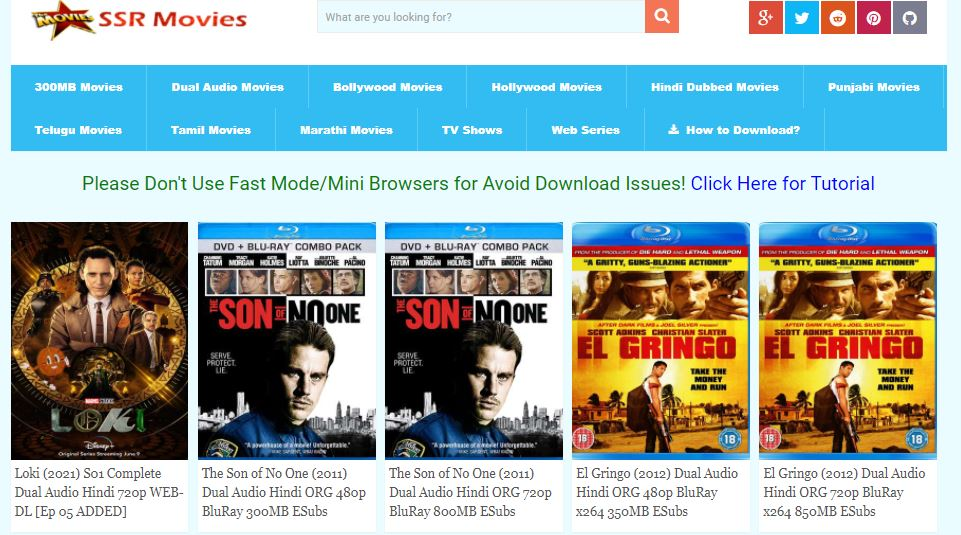Download Videos from SSR Movies cc