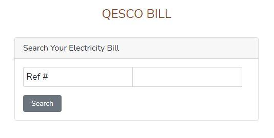 QESCO Online Bill