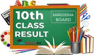 Sargodha Board 10th Class Result