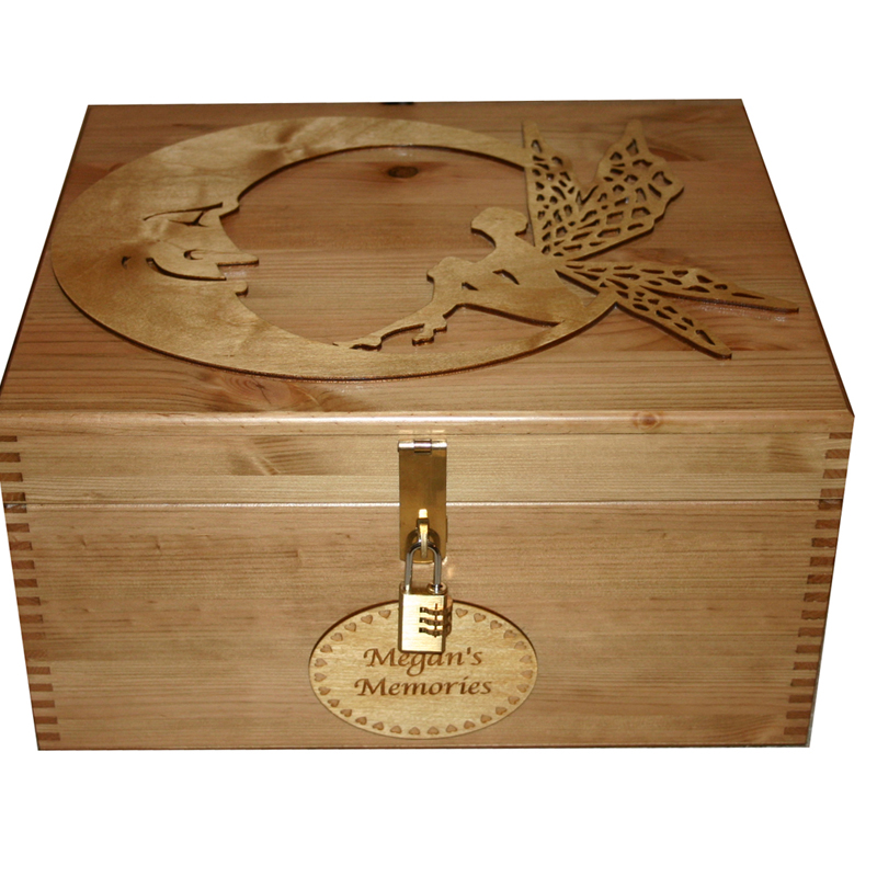 Girls Personalised Wooden Keepsake Box Gifts With Large