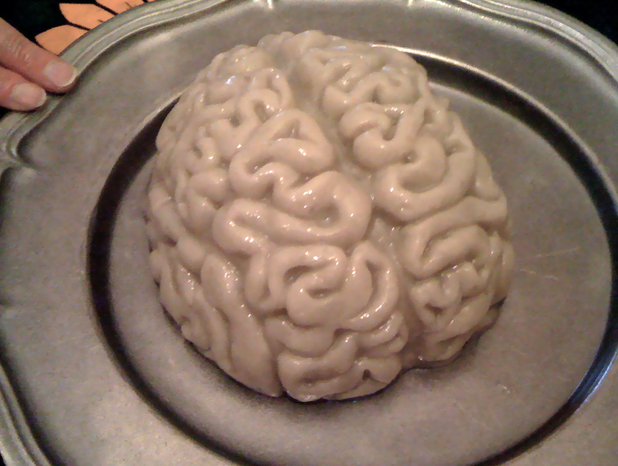 The brain Louise brought for dessert